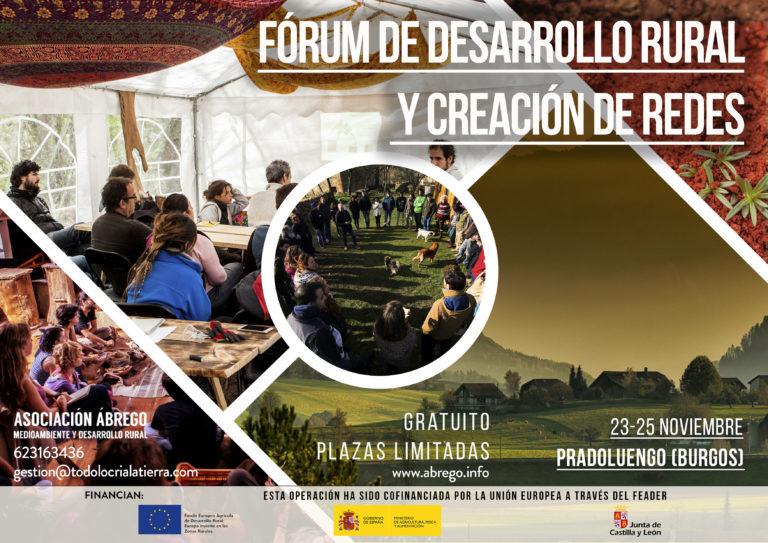 Cartel Fórum Desarrollo Rural y Creación de Redes
